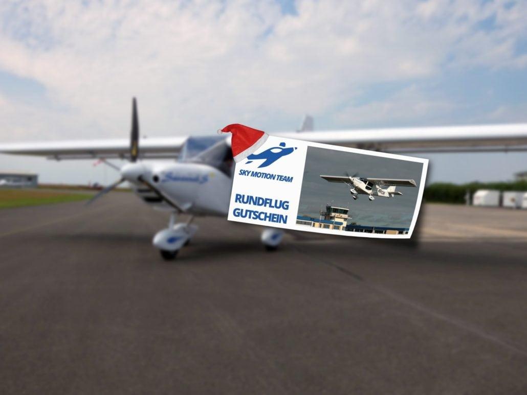 Rundflug-Gutschein als Weihnachtsgeschenk
