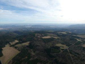 Blick über den Erzgebirgskamm nach Tschechien