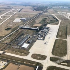Flughafen Leipzig/Halle, Luftaufnahme