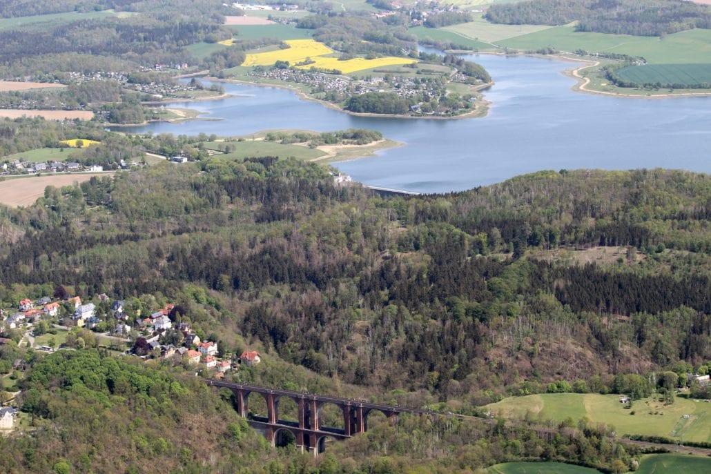 Talsperre Pöhl und Elstertalbrücke